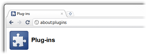 Chrome about:plugins address bar