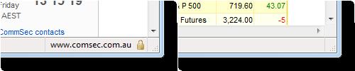 CommSec page corners