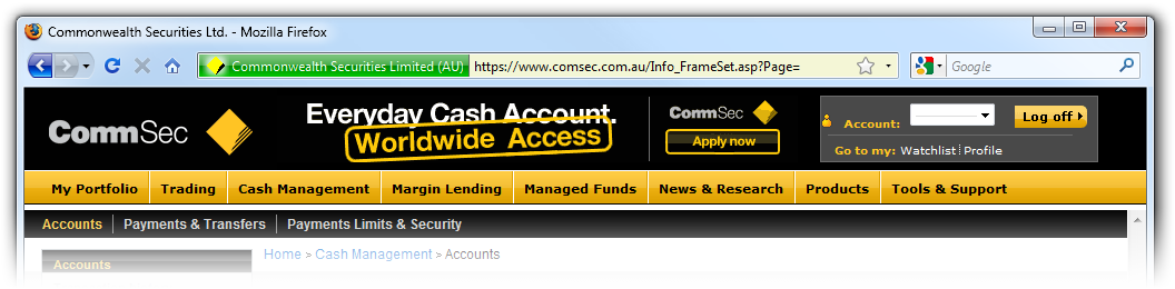 CommSec with SSL