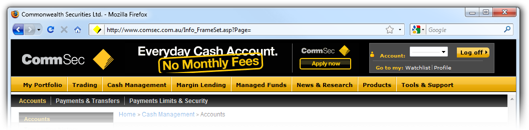 CommSec without SSL