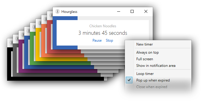 Hourglass - The simple countdown timer for Windows