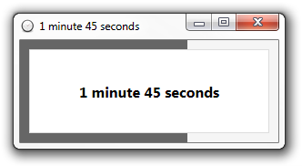 just enter the time to count down in just about any format and hit enter to start the timer when the timer elapses youll be notified by an optional