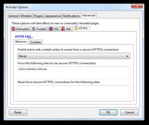 Updated NoScript HTTPS options